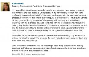 Client Testimonial - Karen Dowd