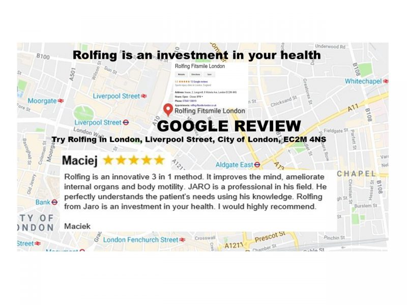 Rolfing from Jaro is an investment in your health