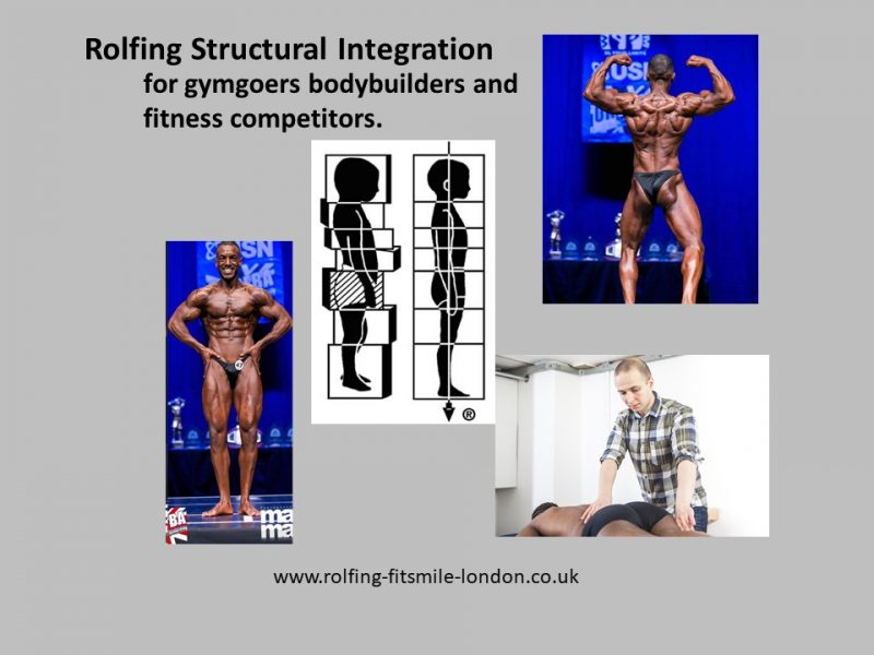 Rolfing for gymgoers bodybuilders and fitness competitors. Good posture is an important factor for bodybuilder competitions for a number of reasons: Excessive lordosis, which can give impression of stomach sticking out. Misaligned shoulders, which can give impression that the muscles one side of the body are larger...